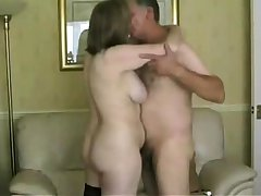 British mature amateur at hand stockings