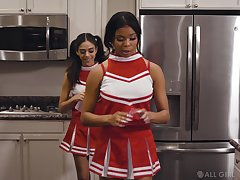 Cute Latina cheerleader alone wants to paroxysm pussy for everyone the time