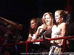 Spring Break Girls On Stage Outdoor
