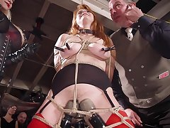 Wild gangbang and humiliation regarding unseat with Aiden Starr and Kira Noir