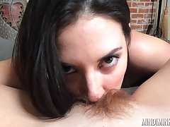 Jelena Jensen licks hairy pussy of erotic milf Mindi Mink in hot POV video