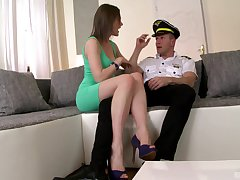 Things go Tina Kay's way during a sexy movement with a cop