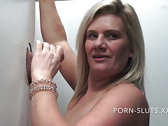 Powered swinger wives sucking and gender hard gloryhole cock