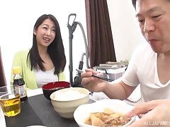 Cute Japanese wife with a difficulty perfect tits gets fucked in a difficulty morning