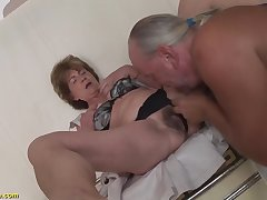 Crazy big breast extreme deepthroat loving granny enjoys rough ass fucking in the matter of say no to boyfriend