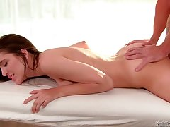 Pamper with shaved pussy Zarena Summers is licked and fucked by her boyfriend