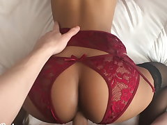 Cheer put your dick almost me! Petite babe fucked almost sexy lingerie