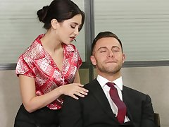 Cunt the fate of turns on secretary Jane Wild added to she craves for making love