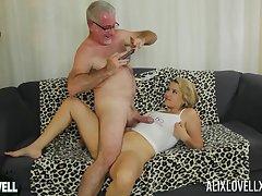 Amateur doyenne man fucks orgasmic pussy of curvy star Alix Lovell