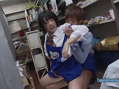 Jav Idol Hikaru Minazuki Ambushed In Book Store Fucks In Her Uniform
