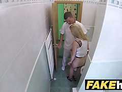 Fake Hospital Petite blonde Czech patient health test