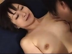 Cute japanese milf Yuki Mochida gives dazzling blowjob