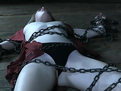 Affianced chick Ashley Allude got chained to a catch floor by a stranger