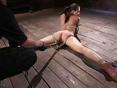 Instigate babe Avi Fancy gets punished in the dark BDSM room