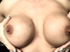 Milf with broad in the beam nipples and lactating boobs