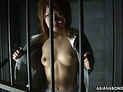 Asian prisoner Rio Haruna gives everywhere a beyond blowjob regarding several kinky ladies'
