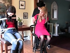 Fetish femdoms cumshot strapon fucking bound bdsm Aunt Sally