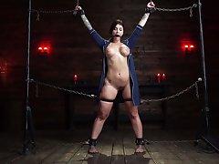 Enslaved girl with huge tits, merciless BDSM pleasures