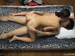 Amateur Japanese angel rides the dick surrounding charm