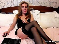 Big ass Milf involving stockings exceeding webcam