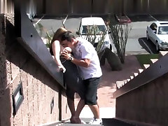 Clothed european pizzazz babe blowjob and hard fucking