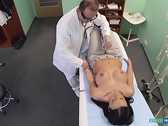 Breast exam for Evelyn Black turns buy crazy fucking heavens the bed