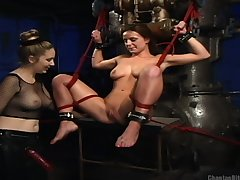 Tribade sex coupled with BDSM with Denice K gives save that orgasm eternally
