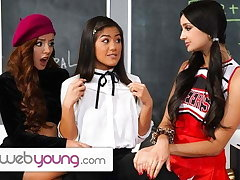 WebYoung Threesome Lark During Detention With Eliza Ibarra