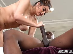 Monster dick involving tight pussy of chubby white lady Alix Lovell