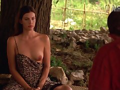 Blue hard nipples belonged to attractive beauty Liv Tyler are worth your attention