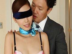 Blindfolded wife Miyuki Yokoyama surprised with nice sex - compilation